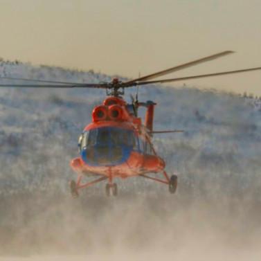 Ребенка эвакуировали из Сусумана в Магадан на санитарном вертолете РВС