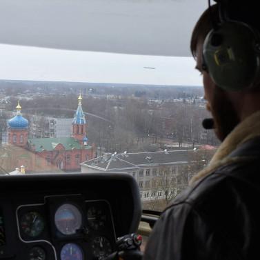 Медицинский вертолет «Ансат» с 20 по 24 марта 4 раза вылетал в Великие Луки для осуществления медицинской эвакуации
