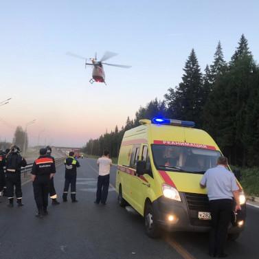 В Тульской области прошли учения экстренных служб с участием санитарной авиации