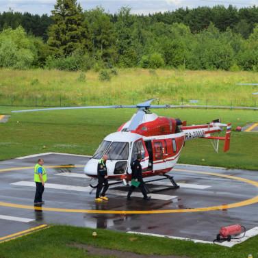 Вертолет экстренно доставил ребенка вЛюберцы