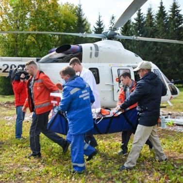 10-й вылет вертолета - экстренная эвакуация пациента с осложнениями